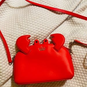 Kate Spade Red Crab crossbody purse